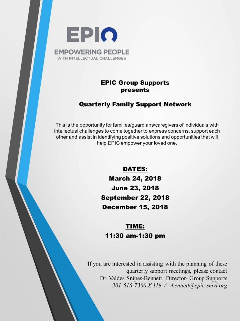 quarterly family support network